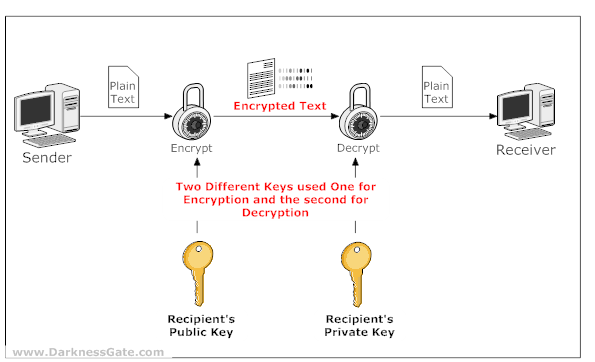 Figure 2: Demonstration of Asymmetric Cryptography - Public & Private Key pair