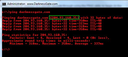 resolve name to IP address