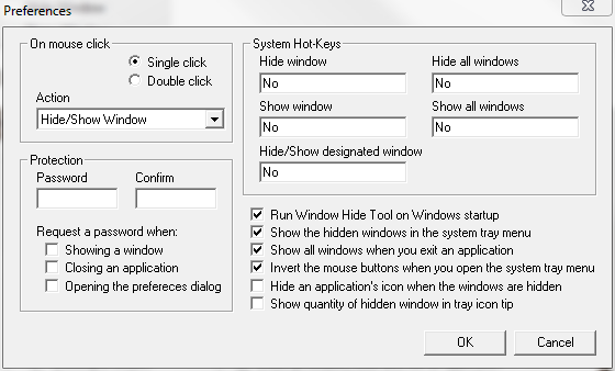 Figure 3:Preferences menu